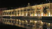 The Valletta Waterfront at night after its restoration.