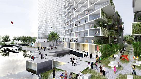 Marina Lofts is being planned on the south shore of the New River, across from Fort Lauderdale's pioneer village.