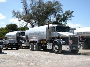 SMF Energy fueling trucks lined up recently at a Port Everglades distribution facility.