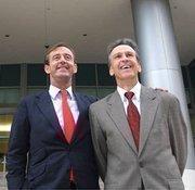 Sabadell United Bank Chairman Fernando Perez-Hickman and CEO Mario Trueba.