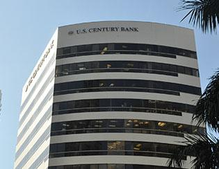 U.S. Century Bank is the largest 'undercapitalized' bank in the nation and the recipient of $50.2 million from the Troubled Asset Relief Program.