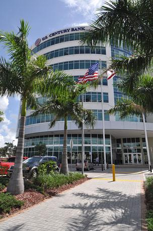 U.S. Century Bank, headquartered in Doral, is focused on reducing bad loans and achieving break-even operating results.