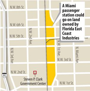 Florida East Coast Industries wants to develop its 9 acres in downtown Miami into destination with hotels and other amenities