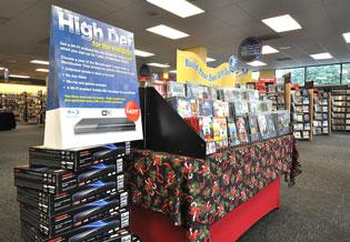 A Blockbuster store in Tamarac was using some of its floor space over the holiday season to promote  Blu-ray high-definition products.