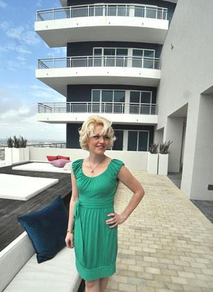Sarah Elles Boggs at Infinity at Brickell, where, she says, 'prices are more reasonable.'