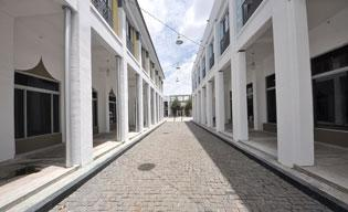 This walkway will be revamped for a new luxury mall in Miami's Design District.