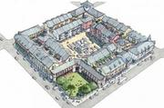 Duany has proposed rebuilding Port-au-Prince block-by-block, with a town square emphasis, as shown in this sketch.