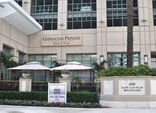 Gibraltar Private Bank & Trust announced it had reached a settlement in a Rothstein-related case.