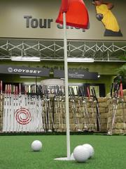 Golfsmith has a putting green in its 32,000-square-foot store in Boca Raton.