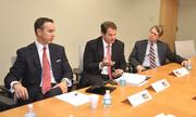 Charles Volkert III, Steve McCraney and Stuart Hoffman were among the participants in the Business Journal's most recent Critical Conversations panel.