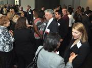 Honoree Dr. Alan Lazar networks at the event, which was attended by nearly two hundred business professionals.