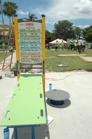 The Energi Station at the Humana multigenerational playground allows users, especially senior citizens, to perform various exercises.