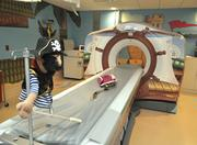 The hospital's pirate ship CT scanner.