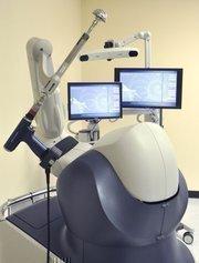 Mako Surgical Corp. uses a robotic arm and proprietary implants for its MAKOplasty knee resurfacing procedure.