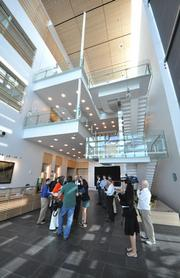 Attendees of the grand opening for the Max Planck Florida Institute for Neuroscience were treated to a tour of the facility.
