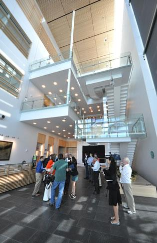 Lobby of the Max PlanckFlorida Institute for Neuroscience, which was the 200th LEED certified building in South Florida.