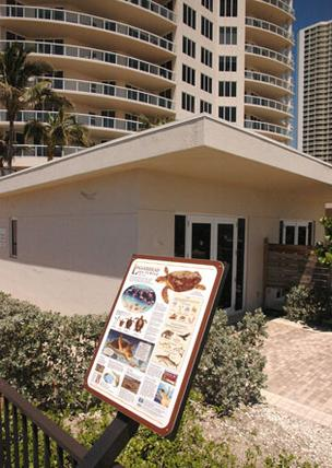 The Ritz-Carlton Residences, Singer Island has a display area that features information about wildlife in the area.