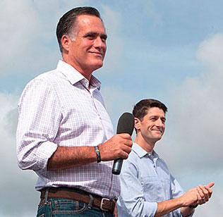 Presidential candidate Mitt Romney and vice presidential candidate Paul Ryan.