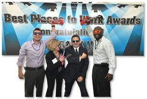 RaceTrac Petroleum staff enjoy their win in the Medium Company category.