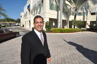 George Pino, president  of State Street Realty, at The Village at Beacon Centre.