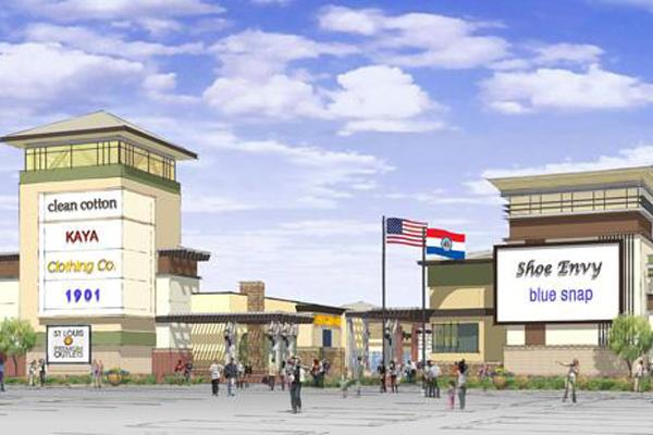 A rendering of St. Louis Premium Outlets