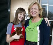 Polly Lett, owner of  Imagination Toys with her 11-year-old daughter Sarah.