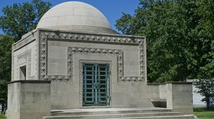 The Wainwright Tomb was constructed for Charlotte Dickson Wainwright and her husband, Ellis Wainwright. The mausoleum was designed by noted Chicago school architect Louis Sullivan, who also designed the Wainwright Building for Ellis Wainwright.