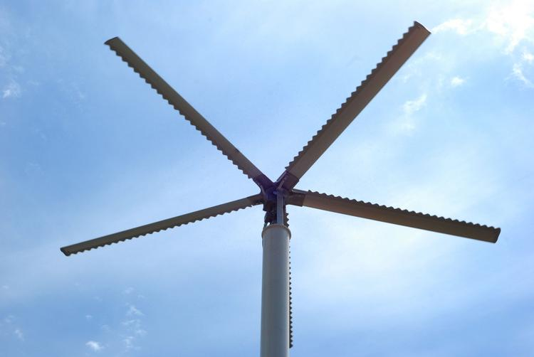 The new fans at The Muny can rotate at a top speed of 63 rotations per minute.
