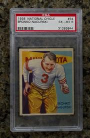A 1935 football card of Bronko Nagurski.