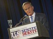 Rep. Todd Akin at the U.S. Senate debate on Oct. 18 in the Clayton High School auditorium.