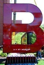 'B' stands for biergarten