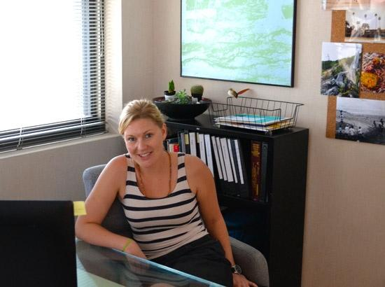 Allison Carmen in her office at the T-REx incubator in downtown St. Louis.