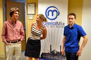 Allison Carmen (center) with interns Turner Trapp (left) and Jeff Leibovich.