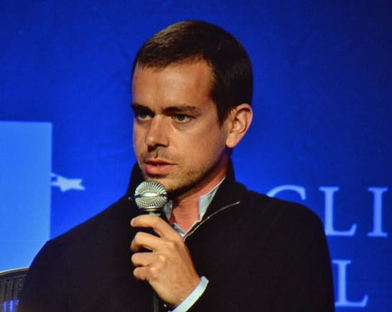 Jack Dorsey at a Clinton Global Initiative University panel discussion on Friday, April 5.