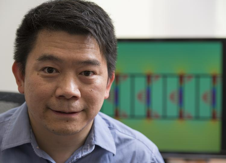 Jung-Tsung Shen, one of five Washington University scientists to receive Bear Cub grants, is developing a high-speed networking switch.