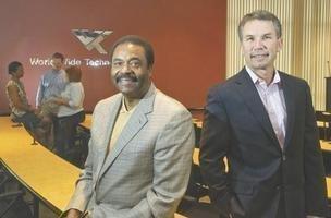David Steward (left) and Jim Kavanaugh
