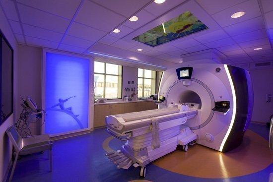 The newkid-friendly MRI suite atSSM Cardinal Glennon Children's Medical Center.