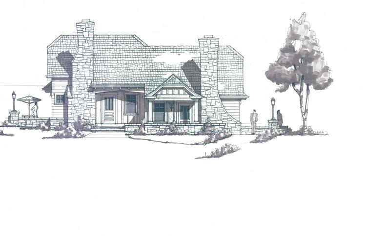 A rendering of one of the cottages to be built at The Gardens at Malmaison.