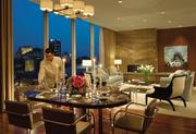 The Four Seasons Hotel St. Louis, Presidential Suite Price: $3,300 a night Features floor-to-ceiling windows, a sweeping view of the Gateway Arch, dining area for six, a sitting area with fireplace, a media room with satellite TV, library and kitchen.