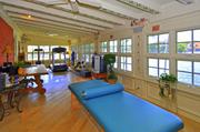 The personal gym on the property.