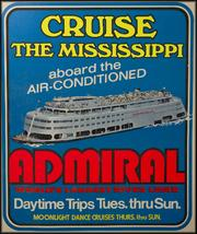 Admiral Riverboat poster from the 1950s