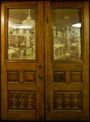 Original doors to the Mercantile Library