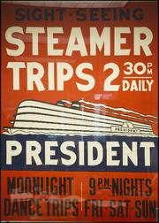 President riverboat poster circa 1930