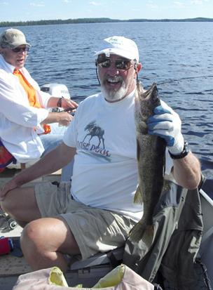 Scott McCuaig, our St. Louis Character, and his catch from his fishing vacation this week in Canada.