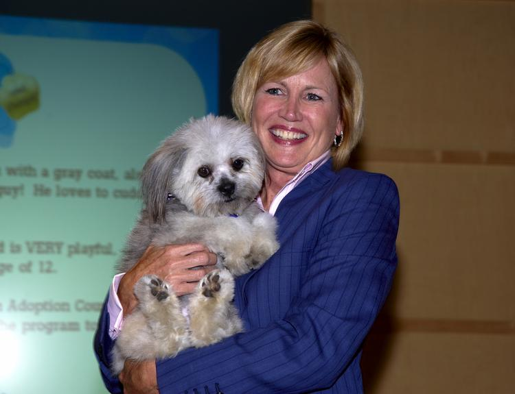 Pam Nicholson, the new CEO of Enterprise Holdings, at the Purses & Pumps for Pooches & Pals fundraiser on June 20.