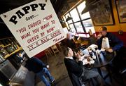 Pappy's Smokehouse, owned by Mike Emerson, offers Memphis-style barbecue, using apple or cherry wood, smoked right outside the restaurant.