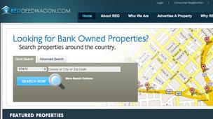 REOdeedwagon.com is a website that allows banks to highlight foreclosed real estate they want to sell.
