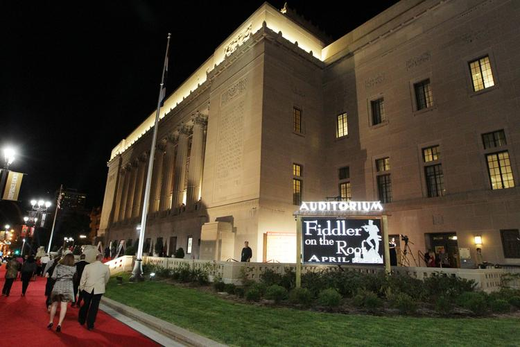 People walk the red carpet for the Peabody Opera House reopening Saturday night.