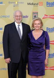 Sen. Claire McCaskill, D-Mo., and her husband Joe Shepard walk the red carpet at the grand opening of the Peabody Opera House.