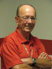 Jack Stretch, event manager for the St. Louis Cardinals
